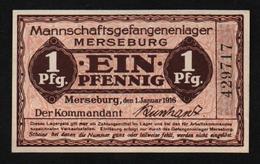 GEFANGENENLAGER GELD LAGERGELD BILLET CAMP MERSEBURG PRISONNIER ALLEMAGNE KG POW GUERRE 1914 1918 - Autres