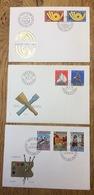 Schweiz Helvetia Swiss Suisse 1973 - 1975, Europa CEPT, 3x FDC - Zonder Classificatie