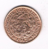1 CENT 1917 NEDERLAND  /0886/ - [ 3] 1815-… : Royaume Des Pays-Bas
