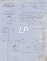 21-1467   1879 OUTILS ET FOURNITURES D HORLOGERIE VERRES DE MONTRES EN GROS A MOYNET ET FILS A PARIS - M. PEYGUE A BORDE - France