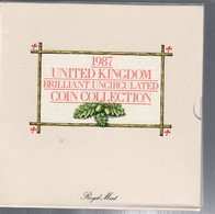 UNITED KINGDOM GRAN BRETAGNA 1987 OFFICIAL SET  UNCIRCULATED COIN COLLECTION - Gran Bretagna