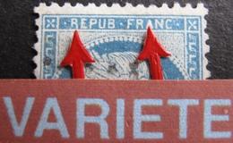 R1684/141 - CERES N°60A - LGC - VARIETE ➤➤➤ Jambe Droite Du R De REPUB Plus Longue + A De FRANC Plein - 1871-1875 Ceres