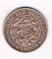 1 CENT 1920 NEDERLAND  /0889/ - [ 3] 1815-… : Royaume Des Pays-Bas