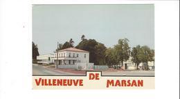 VILLENEUVE DE MARSAN   VUE  GENERALE LA MAIRIE ET LES ALLEES    *****  RARE  A  SAISIR  ***** - Villeneuve De Marsan