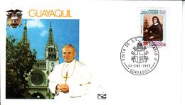 Ecuador (1985) - Busta Ricordo Del Viaggio Del Papa Giovanni Paolo II - Ecuador