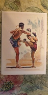 Regional Game,OLD USSR Postcard  -  Thailand Boxing  -  1981 - Jeux Régionaux