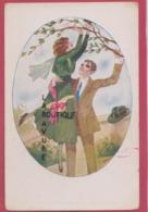 ILLUSTRATEUR -- GEXEY---Couple--Homme Soulevant La Jeune Fille Touchant L'arbre - Illustrateurs & Photographes