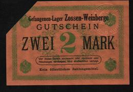GEFANGENENLAGER GELD LAGERGELD BILLET CAMP ZOSSEN WEINBERGE PRISONNIER ALLEMAGNE KG POW GUERRE 1914 1918 - Autres