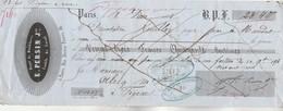 Lettre Change 8/6/1854 PERSIN Doublures PARIS - Alriq Figeac Lot - Lettres De Change