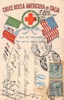 Cartolina Croce Rossa Americana In Italia 1928 - Cartoline