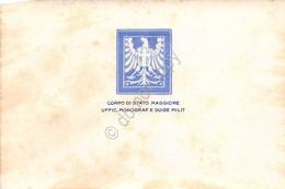 Cartolina Corpo Di Stato Maggiore Ufficio Monografie E Guide Militari - Cartoline