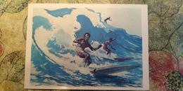 Regional Game, OLD USSR Postcard  -Hawaii Surfing  - 1981 - Jeux Régionaux