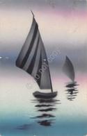 Cartolina Barca A Vela Areograph Segnata - Cartoline