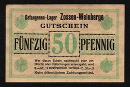 GEFANGENENLAGER GELD LAGERGELD BILLET CAMP ZOSSEN WEINBERGE PRISONNIER ALLEMAGNE KG POW GUERRE 1914 1918 - Altri