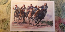 Regional Game,OLD USSR Postcard  - Buzkashi Ulak Tartysh In Kyrgyzstan  -  1981 - Horse Game - Jeux Régionaux