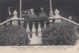 GAND: Fêtes De La Victoire (juillet 1919) - Le Roi Albert 1er, M. Poincaré Et Le Maréchal Foch à L'Hôtel De Ville - Gent