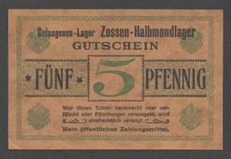 GEFANGENENLAGER GELD LAGERGELD BILLET CAMP ZOSSEN HALBMONDLAGER PRISONNIER ALLEMAGNE KG POW GUERRE 1914 1918 - [10] Emissions Militaires