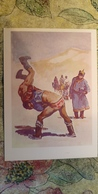 Regional Game,OLD USSR Postcard  - Martial Art -  1981 - Mongolia - Mongolie