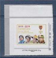 = Centenaire Fédération Nationale Des Combattants Volontaires 1919-2019 TVP LP Portraits De Ces Combattants - France