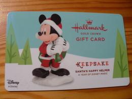 Hallmark Gift Card USA - Christmas, Disney - Cartes Cadeaux