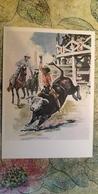 Regional Game,OLD USSR Postcard  - Rodeo -  1981 - Bull - Jeux Régionaux