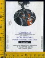 Etichetta Vino Liquore Sudtiroler Lagrein Dunkel 1992 Girlan BZ - Sonstige