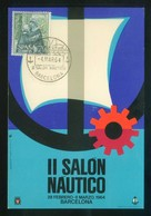 Barcelona *II Salón Náutico*  Matasellos Especial 4 Mar 1964. - Eventos