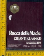 Etichetta Vino Liquore  Rocca Delle Macie 1988 Castellina In Chianti - Etichette