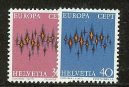 SWITZERLAND  EUROPA CEPT 1972  MNH - 1972