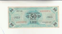 Italy, 50 Fifty Lire Occupazione Alleata 1943 - [ 3] Emissioni Militari