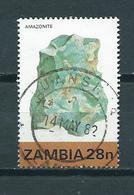 1982 Zambia 28N Minerals Used/gebruikt/oblitere - Zambia (1965-...)