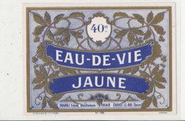 AN 375 -/ ETIQUETTE    EAU DE VIE  JAUNE  FRAIOLI FRERES THAIS - Etiquettes