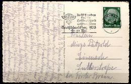 """CPSM S/w AK German Empires Baden-Baden 1938 M. Propaganda MWST""""Baden-Baden-Das NS Fliegerkorps Fliegt Für Gr. """"1 AK Used - Deutschland"""