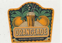 AN 410 -/ ETIQUETTE   -  ORANGEADE - Labels