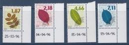 = Préoblitérés En Coin De Feuille Datés Feuilles D'arbres Série II Frêne 236 Hêtre 237 Noyer 238 Orme 239, Neufs - Préoblitérés