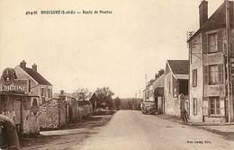 Yvelines -ref-B678- Drocourt - Route De Mantes - Petit Plan Autocar Meulan Drocourt - Autocars - Transports - - Sonstige Gemeinden