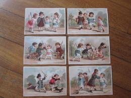 6 Figurine, Chromos, V. Trade Cards. Il Gioco Della Guerra Fra I Bambini. Les Enfants à La Bataille. Testu Massin 34-27 - Autres