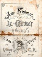 Partition : José Frisanon Ou Le Creusot à Vue De Nez Par Guyon - Partitions Musicales Anciennes