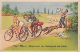 Humour - Chien - Vas-y Médor Dévore-moi Ces Chenapans Criminels (lot Pat 47) - Humour