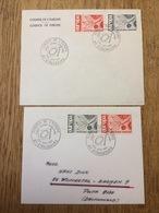 France 1965, Europa CEPT, 2x FDC - Zonder Classificatie