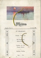 Anvers-Congo   : Menu Du Paquetbot THYSVILLE  1926  ( See Detail )  Congo Maritime ) - Menus