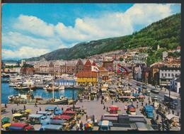 °°° 13200 - NORWAY - BERGEN - THE MARKET AND BRYGGEN - 1973 °°° - Norvegia