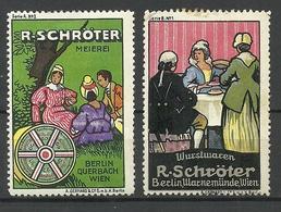 GERMANY R. Schröter Vignetten Werbemarken * - Vignetten (Erinnophilie)