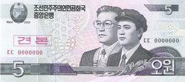 North Korea - Pick 58s - 5 Won 2002 - 2009 - Unc - Specimen - Corea Del Nord