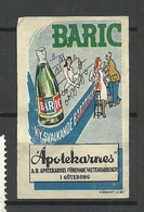 SWEDEN Ca 1920 BARIC Apotekarnas Water Company Göteborg Werbemarke Advertising MNH - Erinnophilie
