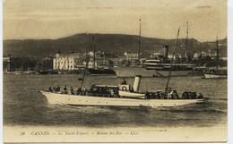 """10354 - Alpes Maritimes -  CANNES :  LE  YACHT    """" ESTEREL""""     -   RETOUR DES ILES - Cannes"""