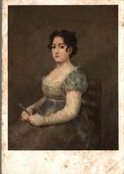 PEINTURE ESPAGNOLE FRANCISCO JOSE DE GOYA Y LUCIENTES LA FEMME A L'EVENTAIL - Peintures & Tableaux