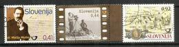 Le Film Slovène,Monastère De Bistra,Personnalité M.Murko.  3 Timbres Oblitérés 1 ère Qualité Année 2011 - Slovénie