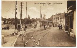 10358 -  St JEAN CAP FERRAT  : Animation - Place Clémenceau   Eglise Et Monuments    -  Circulée Sous Enveloppe - Saint-Jean-Cap-Ferrat