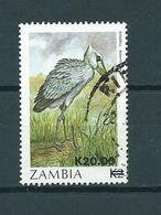 1987 Zambia Birds,oiseaux,vögel,overprint Used/gebruikt/oblitere - Zambia (1965-...)